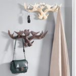 New Love Vintage Deer Antler Wall Hanger Decoration Coat Hook And Hat Rack 4 Color Holder