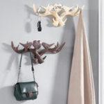New Love Vintage Deer Antler Wall Hanger Decoration Coat Hook And Hat Rack 4 Color Holder