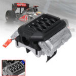 New GRC Engine Simulated Radiator F11 V8 5.0 Motor Cooling Fan for 1/10 Traxxas TRX-4 TRX4 Rc Car Parts