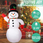 New 2.4M Christmas Inflatable Snowman Xmas Decoration Toys Outdoor Garden Lights
