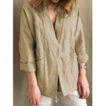 New Women Long Sleeve Pocket Loose Casual Cardigan
