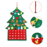 New Christmas Tree Advent Calendar Felt Fabric Countdown Xmas Display Decor Ornament