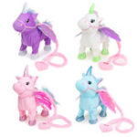 New Electric Magic Walking Wiggle Singing Unicorn Stuffed Plush Toy Kids Christmas Gifts