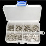 New Suleve™ M2SH1 240Pcs M2 Hex Socket Cap Head Screw 304 Stainless Steel Bolt Nut Assortment
