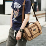 New Leisure Canvas Shoulder Bag Handbag For Men