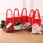 New Christmas Bucket Bag Cotton Christmas Eve Gift Bag Handbag