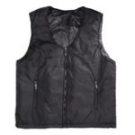 New Electric Black Vest Heated Waistcoat Cloth Thermal Warm Pad Winter Body Warmer