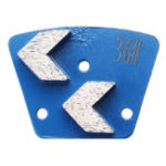 New 36 Grits Trapezoid Diamond Grinding Disc Pad Scrapers For Grinder Concrete Floor