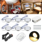 New 6pcs 12V Spot Ceiling Light Lamp Dimmer Cabinet Lamp For Caravan Camper Trailer
