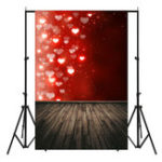 New 5x7FT Red Flashing Love Board Valentine's Day Theme Photography Backdrop Studio Prop Background