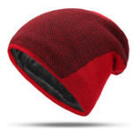 New Mens Winter Warm Plus Velvet Beanie Hip-hop Knitted Hat