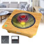 New 900W Electric Heater Fan Space Heater Adjustable Thermostat Temperature Control for Home Office