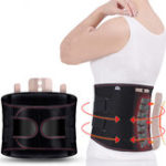 New KALOAD Back Support Lumbar Shoulder Corrector Adjustable Fitness Exercise Sport Self-heating Waist Belt Protector