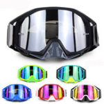 New Soman Motorcycle Motocross Cycling Racing Off Road Skiing Goggles Anti-Scratch Colorful Lens