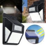 New Solar Power 35 LED PIR Motion Sensor Garden Security Light Outdoor Yard Wall Lamp