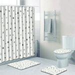 New Waterproof Bathroom Bath Shower Curtain Bathroom Simply Pattern Shower Curtain Bathroom Curtains