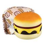 New Cutie Creative Humongous Cheese Beef Burger Giant Squishy 22CM Bread Jumbo Gift Collection Soft Toys
