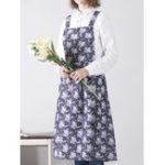 New Vintage Women Casual Floral Print Sleeveless Apron Dress