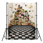 New 5x7FT Book Scenery Photography Backdrop Studio Prop Background