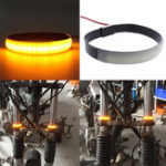 New Pair SMD LED Strip Bike Motorcycle Car Fork Turn Signal Indicator Lights Blinker Lamp
