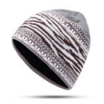 New Mens Ethnic Stripe Winter Earmuffs Knit Beanie Hat