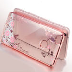 New Bakeey Diamond Plating Clear Cover Soft TPU Flower Protective Case For Xiaomi Mi 8 Lite 6.26 inch