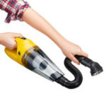 New 2200Mah Yellow 120W 100V to 240V Wireless Dry and Wet Car Household Vaccum Cleaner