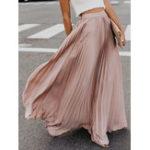 New Boho Elastic Waist Pleated Skirts
