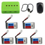 New Eachine E016H RC Quadcopter Spare Parts 5Pcs 3.7V 350mAh Lipo Battery with 5-in-1 Charger Adapter