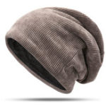 New Men Women Double Layer Plus Velvet Hood Hat Baggy Pile Cap