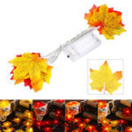 New 1.5M 10 LED Fall Maple Fairy Light String Garland Lamp Christmas Light Xmas Home Decor