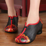 New Retro Folkways Genuine Leather Casual Pumps