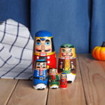 New Russian Wooden Nesting Matryoshka Doll Handcraft Decoration Christmas Gifts