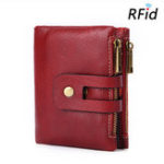 New RFID Men Genuine Leather 15 Card Slot Short Wallet
