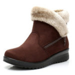 New Fur Lining Warm Winter Zipper Ankle Snow Boots