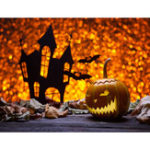 New 7x5FT Castle Pumpkin Lantern Halloween Theme Photography Backdrop Studio Prop Background