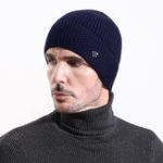 New Mens Vintage Warm Thickened Double Layers Knitted Hat