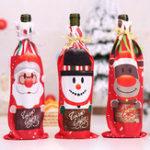 New Table Decor Dinner Party Christmas Santa Tree Bottle Cover B