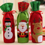 New Christmas  Bottle Decor Set Santa Claus Snowman Deer Bot