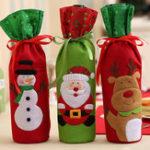 New Christmas  Bottle Decor Set Santa Claus Snowman Deer Bot