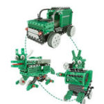 New 3 In 1 DIY RC Robot Toy Block Building Infrared Control Car Soldier Dinosaur Educational Kit
