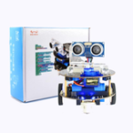 New Mini Crabot Cratch Programmable Educational Smart Robot DIY Kit for Arduino with Handle Remote/Infrared Remote Control Support USB Charging