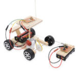 New 1 Set DIY Wireless RC Car Remote Control Model Kit Funny Educational Kids Toy Without Battery