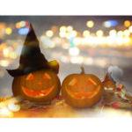 New 7x5FT Flashing Candlelight Pumpkin Lamp Theme Photography Backdrop Studio Prop Background