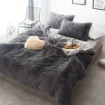 New Winter Velvet Queen Bedding Sets Mink Velvet Warm Bed Linings Bedding Kits