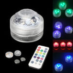New 1pc /10pcs RGB LED Spot Light Underwater Swimming Pool Lamp Fountain Remote Control
