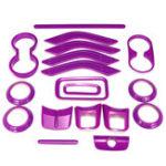 New 18pcs Purple Car Moulding Trim Strip Accessories For Jeep JK JKU 4door 2011-2017