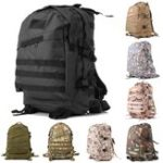 New 55L Outdoor Tactical Army Backpack Rucksack Waterproof Camping Hiking Shoulder Bag