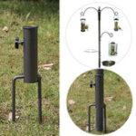 New Bird Feeder Pole Hangers Feeding Station Stabilizer Feet SpikesStand Feed Tube Garden Lawn