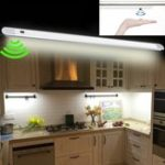New DC12V 50CM 7W Hand Wave Sensor 60LED Cabinet Rigid Strip Light for Bar Kitchen Bathroom Home Decor